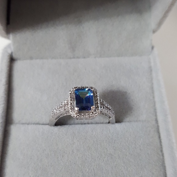 None Jewelry | Stunning Blue Mystic Topaz Ring 925 | Poshmark